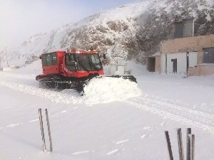 На Хермоне выпало 2 см снега