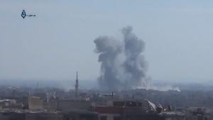 Сирия активно бомбит террористические туннели ИГ