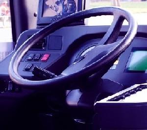 Водители автобусов вышли на акцию протеста