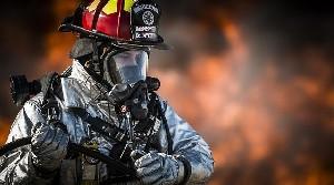 Пожарные потушили пожар от зажигательного шара