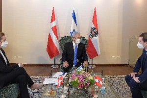 Иерусалим: саммит лидеров Израиля, Австрии, Дании